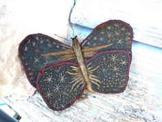 Vintage 1900/1920 French pin cushion butterfly. $39.00, via Etsy.