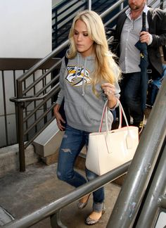 Carrie Underwood Photos: Country Music Star Carrie Underwood Touches Down at LAX