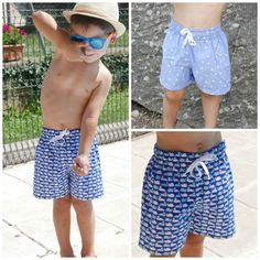 Patrón PDF para hacer una bañador para niño ideal para el verano. Bañador niño tipo bermudas patrón