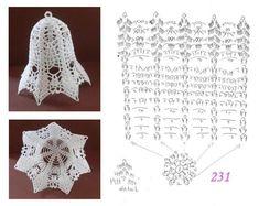 Crochet Christmas Ornaments, Christmas Crochet Patterns, Crochet Doily Patterns, Christmas Knitting, Crochet Motif, Crochet Doilies, Crochet Ball, Thread Crochet, Filet Crochet