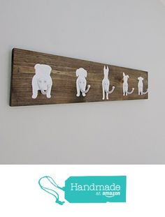 Coat Rack Hooks Hats Jackets Dog Leashes Rustic Home Decor Wood Sign Wall House Warming Gift Painted Barnwood Farmhouse Reclaimed Primitive Valentine's Day Gift For Dog Lover from Sweet Bella Stationery http://www.amazon.com/dp/B01AMFYF3K/ref=hnd_sw_r_pi_dp_RAMNwb159VFKX #handmadeatamazon