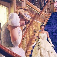Cinderella and tiana