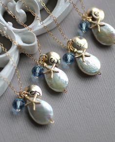 Bridesmaid Necklaces - Monogram charm