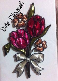 Çiçek desen çizim Dide Filografi