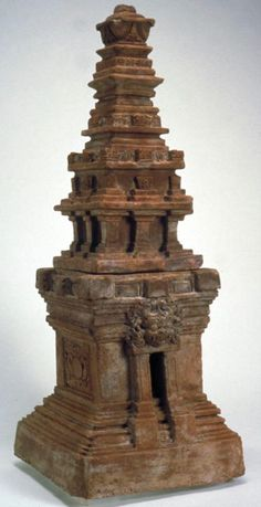 Miniature towers Place of Origin: Indonesia, East Java Date: approx. Materials: terra-cotta Style or Ware: Majapahit Dimensions: H. 16 in x D. Indonesian Art, Hindu Art, Ancient Ruins, Balinese, Southeast Asia, Asian Art, Java, Buddhism, Terracotta