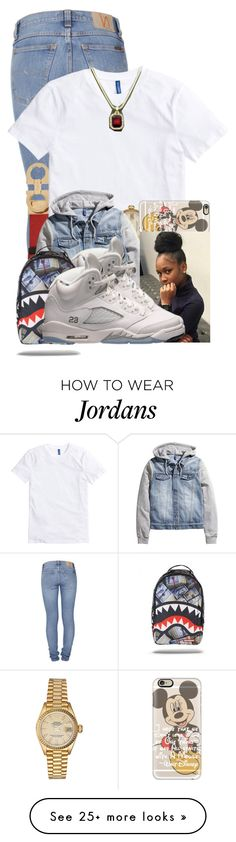 """Gotta Get Away, Make It Happen, Whatever Happen, Just Had To Happen ❤"" by aniahrhichkhidd on Polyvore featuring Nudie Jeans Co., Salvatore Ferragamo, Rolex, Casetify and Retrò"