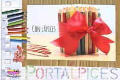 Portalápices con lápices! ideal para el Día del Maestro o para regalar a tu amiguito del cole: http://www.manualidadesinfantiles.org/portalapices-con-lapices