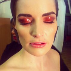 Sammy's makeup look for Onoara photoshoot with Condry Calvin Mlilo
