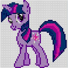 Free my little pony cross stitch | Twilight Sparkle Sprite by ~Bobbeyjazz on deviantART