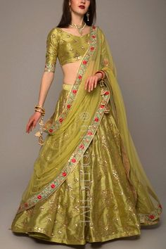 Green lehenga perfect for a day wedding priced under 10k #Frugal2Fab