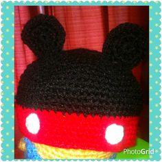 Gorrito Mickey, para el frío que ya llega!!