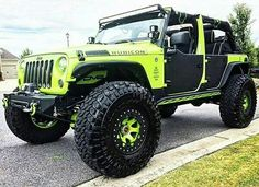 Green and black Rubicon monster