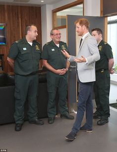 7-9-2017 Harry meets some of the staff and crews, to learn about their work in the Northern Ireland...