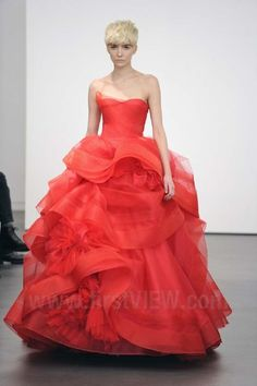 Red Bridal Gowns with Vera Wang