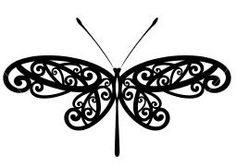 this looks more like a butterfly, but I like the detail of the wings.but would prefer a more dragonfly look :)- has to be perfect in remembrance of my aunt Dragonfly Tattoo Design, Butterfly Tattoo Designs, Dragonfly Art, Silhouette Cameo, Silhouette Projects, Silhouette Design, Black Butterfly Tattoo, Digi Stamps, Bracelet Tutorial
