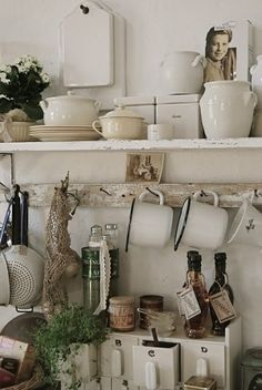 Nails for hanging -- not directly into wall but onto a strip   (pantry idea)