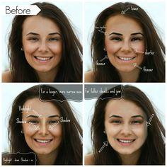 Illusion through makeup tricks