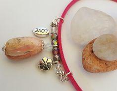 Rough Rhodochrosite Stone Necklace - Birthday, Anniversary, Christmas, Mother's…