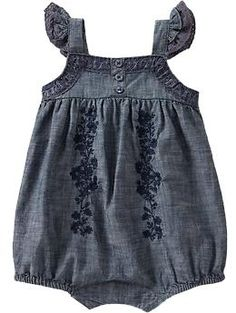 Blue Chambray Bubble One- Piece