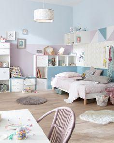 Kinderzimmer Neu Gestalten Farbe Pastelltöne Geometrische Motive  #innendesign #interior #colors #design