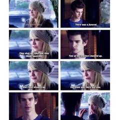 The Amazing Spiderman scenes with Gwen and Peter ;(