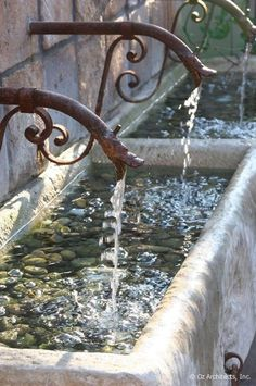 Gargoyle water spout fountain in Provence-the design motif that inspired the Herbeau Pompadour faucet