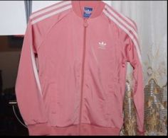 Light Pink Adidas jacket Brand new and never worn! Sizes run small Adidas Sweaters Light Pink Adidas, Fall Outfits, Cute Outfits, Fashion Wear, Spring Fashion, Queen Outfit, Adidas Outfit, Cold Weather Outfits, Jacket Brands