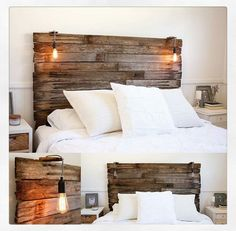 Rustic bedhead