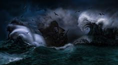 THE STORM - a Ship in a storm as fine art work :-)