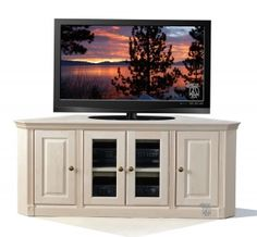 Maple Federal Face Frame Crown Corner TV Stand Unfinished Hoot Judkins