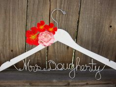 Personalized Bridal Hanger Custom Hanger Wedding Gift by SimplyMai, $13.99