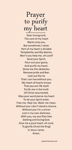 Is your heart pure? Let this prayer inspire you to seek God to purify your heart.