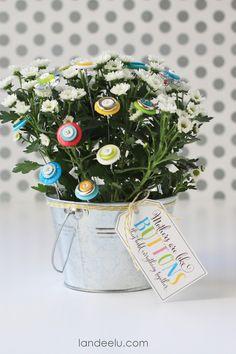 DIY Button Bouquet c