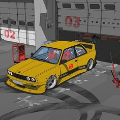 ArtStation - subclas s Auto Illustration, Cool Car Drawings, Street Racing Cars, Japan Cars, Bmw E30, Futuristic Cars, Automotive Art, Bmw Cars, Motor Car