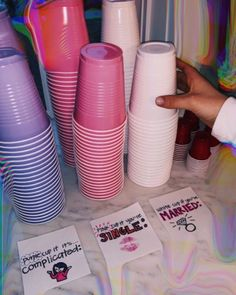 I like how instead of taken its 'complicated' - Party - Drinking games Fun Sleepover Ideas, Party Ideas For Teenagers, Teenage Parties, College Parties, Home Parties, Themes For Parties, Adult Party Ideas, College Party Games, Sleepover Crafts