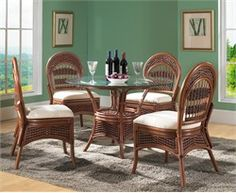 Rattan Dining Set: Tigre Bay Dining Set of 5  Our best-selling rattan dining set is always a great choice if you are looking for rattan with style and of the highest quality. Tigre Bay Rattan Dining Set Benefits: -This Rattan Dining Set is perfect for smaller scaled areas in your home. -Each Dining Chair is extremely strong & you will enjoy its comfort. -You can choose from over 100 premium quality fabrics for your rattan dining set cushions. -Unique Style available exclusively for you at…