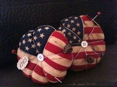 Aged Flag Pin Cushion by HavenshireDowns on Etsy