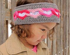 CROCHET PATTERN - Heart Warmer - crochet head wrap pattern, heart headband pattern in 3 sizes (Toddler, Child, Adult) - Instant PDF Download