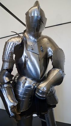 Armor for use in a tourney made in northern Germany (Saxony) 1575 CE punched and engraved steel and leather (1)