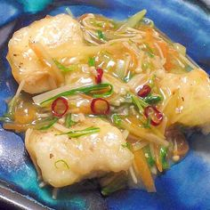 めんつゆとみりんで割烹の味★鱈の彩り野菜あん
