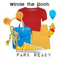 """""""Winnie the Pooh: Park Ready"""" by laniocracy on Polyvore featuring Sophie Hulme, WearAll, Loeffler Randall, Converse and disneyland"""