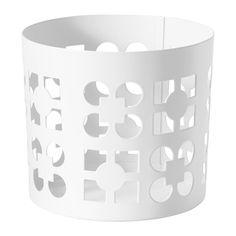 IKEA - VACKERT, Ozdoba na świecę w szkle, Ciepłe światło świecy dekoracyjnie prześwituje przez wzór na świeczniku.Ozdobę można używać też z dużymi tealightami.