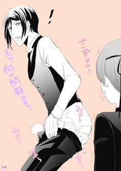 Kuroshitsuji LOL! He's got pants full of cats!