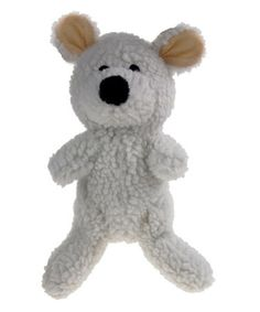 This White Polar Bear Fleece Dog Toy by Seal Pet Accessories is perfect! #zulilyfinds
