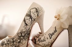 My personalised Wedding shoes by figgie shoes