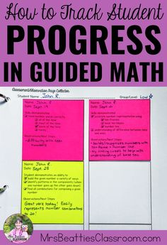 Thinking about trying Guided Math? Getting organized to track student progress is important for Guided Algebra Activities, Math Resources, Teaching Math, Math Math, Guided Maths, Math Teacher, Guided Reading, Teacher Stuff, Tracking Student Progress