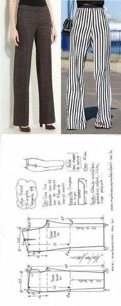 New Sewing Pants Simple Ideas Sewing Pants, Sewing Clothes, Dress Sewing Patterns, Clothing Patterns, Sewing Ideas, Diy Fashion, Fashion Design, Schneider, Pants Pattern