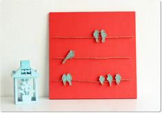 Birds on a wire String Wall Art by mintiwall on Etsy, $95.00