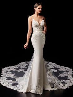 Pallas - 2021 Enzoani | Enzoani Mermaid Dresses, Bridal Dresses, Lace Mermaid, Bridesmaid Dresses, Designer Wedding Dresses, Wedding Gowns, Bridal Reflections, Essense Of Australia, Allure Bridal