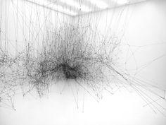 14 Billion / galaxy forming along filaments, like droplets along the strands of a spider's web / tomas saraceno